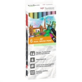 Rotuladores Doble Punta Colores Pastel Tombow. Pack 6