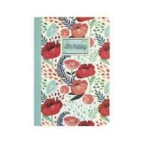 Libreta A-6 pauta 100gr Be happy flores