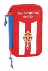 Real Sporting. Plumier Doble Pequeño. 2017/18
