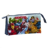 Estuche escolar triple Avengers Heroes VS Thanos