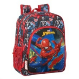 Mochila Escolar Junior Adaptable a Carro Go Hero Spiderman.