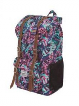 Mochila World Campus Estampada Correas