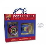 Fc Barcelona. Set Regalo Despertador y Taza