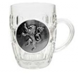 Juego de Tronos. Jarra Cristal Escudo Metalico Lannister Game Of Th
